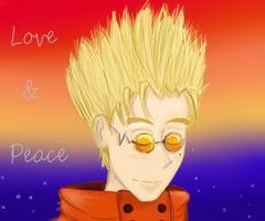 Vash The Stampede Love and peace by silverdragonchild