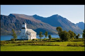 Lofoten church by flemmens