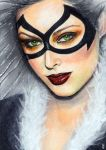 Black Cat Sketch Card 11 by veripwolf