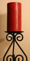 Candle and Holder by KelbelleStock