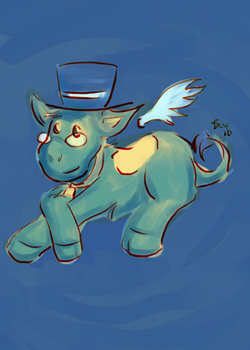 Moo in Blue by bugbyte