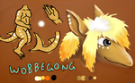 Quick ref Wobbegong by pie-lord