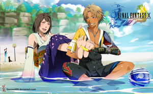Commission - Tidus x Yuna : Feet by dannex009