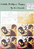 Uchiha brothers-process by Gin-Uzumaki