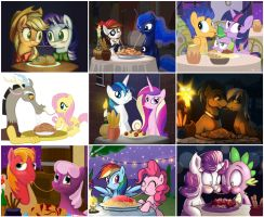 My Little Pony Spaghetti Kiss Collage by GentlemanY