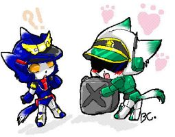 Kitty Brave Police XD by BloodyChaser