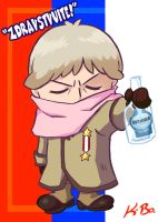 Hetalia Russia Art Card by kevinbolk