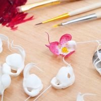 WIP Orchid - Polymer Clay Flowers by Vakhara