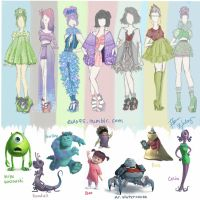 Monsters Inc. Fashion by Ellphie