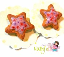 Star Shaped Sugar Cookies by colourful-blossom