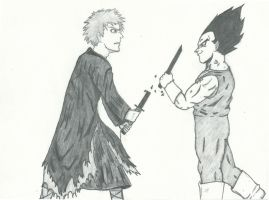 Ichigo Vs. Vegeta: Over Before it Began by RudeKaiser396