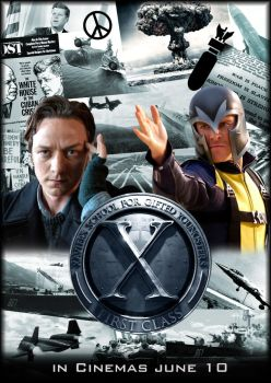 X-Men First Class Movie Poster by njferns