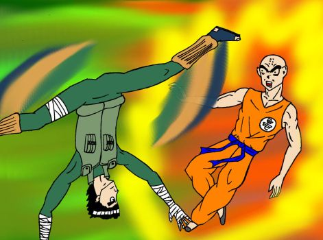 Rock Lee v Krillin by LoTexArt