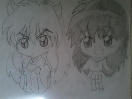 inuyasha and kagome chibi part 2 by Jhennica0987654321