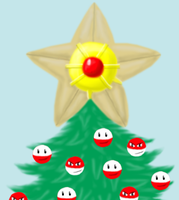 Pokemon Christmas Tree colored by MikariStar