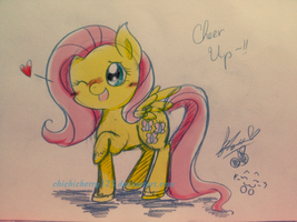 Fluttershy : Cheer up ~! by chichicherry123