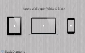 Black and White Apple Wallpaper by BlackDiamondOne