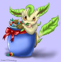 Colouring - Leafeon by Silverbirch