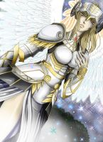 Hrist the valkyrie: in white by zackwings