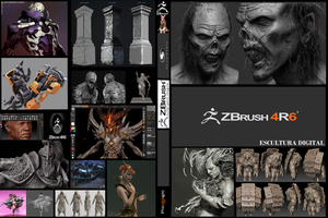 ZBrush 4R6 Cover by wendelcosta