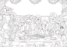 First of many meets lineart by Jowybean