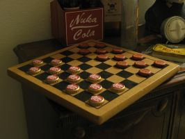 fallout bottlecap checkers by emptysamurai