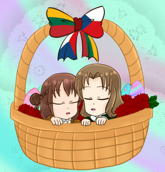 ::+Chibi Easter LietCzech+:: by Apple-Rings