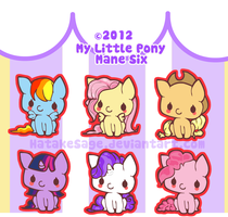 Mane Six - Charm Designs by HoneyDoodles