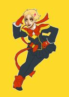 magical girl captain marvel by thugglet