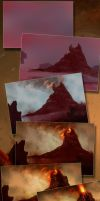 Volcanic Landscape Process by JHibbs