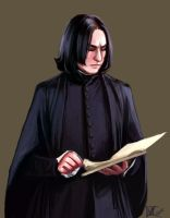 Snape and the book by jinaelee
