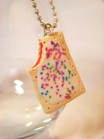 pop tart necklace by kawaiibuddies