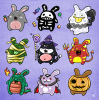 Adopts - Halloween by ChuChucolate