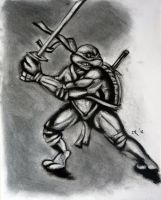 Leonardo using charcoal by menacestudio