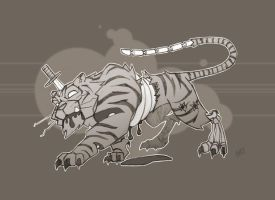 Zombie Zoo: Tiger Grays by Zatransis