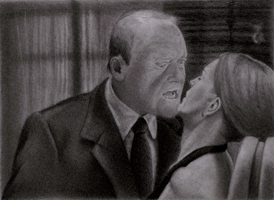 Hannibal and Clarice (Hannibal) WIP 3 by Isaacsporcaelus