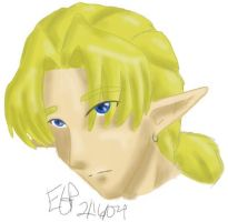 Pensive Link Doodle by rydiahighwind