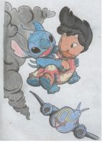 Lilo and Stitch by abskiem