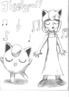 Jigglypuff and Jigglypuff Girl by LetsDanmaku