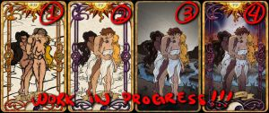 6 The Lovers - Tarot Card WIPS! by Cupcakes-lover