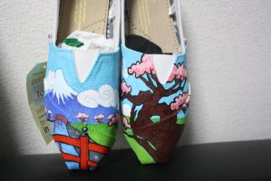 Japanese Shoe comission - female pair by methodmonkey