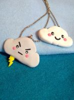 Cloudy Days Friends Necklaces by kawaiibuddies