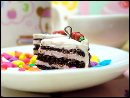Black Forest Cake Charms by GrandmaThunderpants