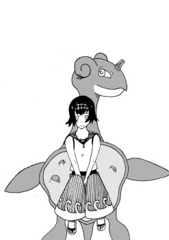 suiren and lapras fan-art by magic-shield-manga