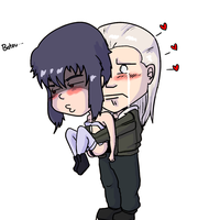 My OTP to end all OTPS- Motoko and Batou by PuzzleBishop