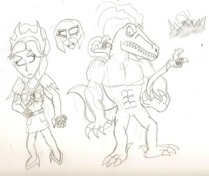 Zeita and Raptor Leader Sketch