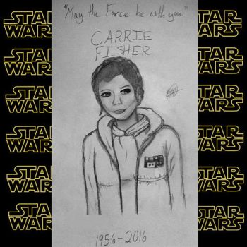 May the Force be with you (Carrie Fisher Tribute) by HelloHannah265