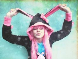 Happy Easter Pink Hair Girl 2 by cherrybomb-81