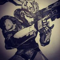 Solid Snake by thatonesketchartist