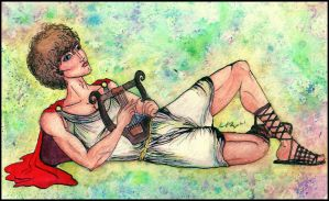 Apollo Playing the Lyre by sabanna